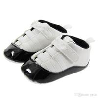 ingrosso ragazzi prima camminatori-Primavera e autunno Scarpe da bambino PU Leather Neonati Primi Walker Shoes Infant Prewalker Sneakers Scarpe