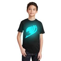 cauda feericamente camiseta venda por atacado-LYTLM Anime Japonês Camisetas Camisetas Fairy Tail Camisetas Meninos T Shirt tamanho 10 de Manga Curta de Verão T-shirt para Meninas Camiseta Enfant