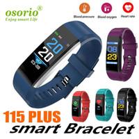 Wholesale luxury smart watch ios online – ID115 Plus Smart Wristband Bracelet true Heart Rate Monitor Blood Pressure Motion Watch Pedometer Fitness Tracker Band luxury watches IP67
