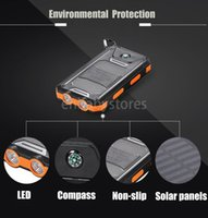 Wholesale portable mobile phone charger flashlight for sale – best E Solar Portable Universal mah Power Bank Battery Charger With Led Flashlight And Compass For Mobile Phones Outdoor Camping