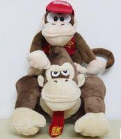 macaco jogos venda por atacado-2 pçs / set super mario brinquedos de pelúcia dos desenhos animados de animais de pelúcia boneca macacos e donkey kong para crianças melhores presentes de aniversário de natal