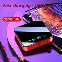 ipad banco de potencia portátil externo al por mayor-Nuevo estilo 20000mAh Banco de potencia 2USB mini cargador del banco de batería grande portable externa de energía para el teléfono móvil inteligente de Samsung del iPhone IPad