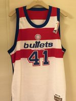 Wholesale one bullet for sale - Group buy Wes Unseld Sewn Bullets M N Buy One Get One Free Mens Vest Size XS XL Stitched basketball Jerseys Ncaa