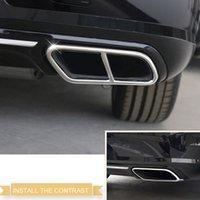 ingrosso acciaio inossidabile-Car Styling 2 PZ Posteriore In Acciaio Inox Silenziatore di Scarico End Tail Copertura del Tubo Decorazione Trim Per VOLVO S90 2016 2017 2018
