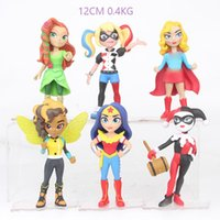 Wholesale style superhero toys resale online - 6 Style Superhero Wonder Woman Harley Quinn Figure Doll toys New kids cm avengers Cartoon movie Plastic ToyC