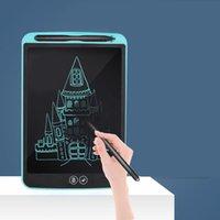niños viejos pintando al por mayor-Botón LCD niños la escritura de Graffiti Tableta digital Batería niños Pintura 3 años de edad en adelante tablero de dibujo