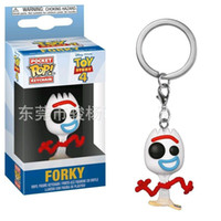 Wholesale figure toys kids for sale - Group buy Funko Pop Keychain forky movie Action Figures Anime Collection Doll kids Toys Movie Anime Key chain Keyring Kid Toy design lol