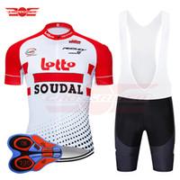 camisas de ciclismo lotto venda por atacado-2019 Pro Team Bélgica Lotto Ciclismo Jersey 9D Definir MTB Bicicleta Vestuário de Bicicleta Desgaste Dos Homens Maillot Curto Culotte