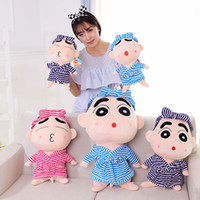 Wholesale Super cute Large doll plush toy cm Shinchan Stuffed Animals doll Children s best birthday present Couple gift