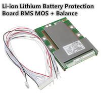 48V 20A 13Series Tarjeta de Protecci/ón con Equilibrio BMS Junta de Protecci/ón de PCB con Equilibrio para Li-ion 18650 Bater/ía