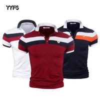 ingrosso shirt in vendita-Yyfs Uomo Camicia Plus Size M-3xl Manica Corta In Cotone Camicia Maglie Camicie Uomo Slim Fit Polo Camisa Casual Vendita Calda SH190705