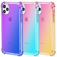 affentelefonabdeckungen großhandel-Gradient Farben Anti Shock Airbag Klar Hüllen für iPhone 11 Pro Max XR XS 8 7Plus 6S für Samsung S10 S9 Anmerkung 9