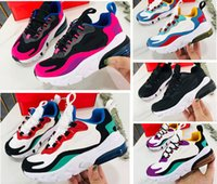 яркие детские туфли оптовых-27c React Bauhaus TD Детская обувь для девочек-мальчиков 2019 Дизайнерские детские кроссовки Hyper Pink Яркие фиолетовые детские кроссовки для детей 7.5c-3y