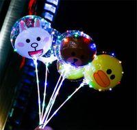 ballon dekorationen lichter groihandel-Niedliche transparente Bobo Ball Dekoration Lichterketten LED Ballon Lichter Weihnachten Hochzeitsfeier Girlande Lichter c516