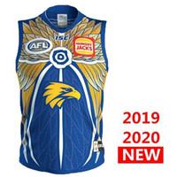 fútbol australiano al por mayor-West Coast Eagles nuevo fútbol 2019 2020 Hombres Inicio Guernsey AFL camisetas de fútbol 19 20 Australian Rules entrenamiento de fútbol australiano SINGLET