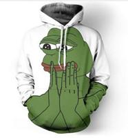 jersey de rana al por mayor-Nueva moda Hip Hop Sudadera Hombres / Mujeres Sudaderas con capucha casuales 3d Sad Pepe The Frog Unisex Harajuku Estilo Sudaderas con capucha sueltas USA092