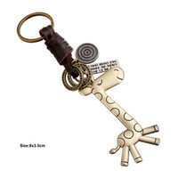 Wholesale zinc alloy letters for sale - Group buy Giraffe Keychain Cartoon Animal Ciraffe Key Chain Keyring Letter Tag I Feel About you Keychain Designer Jewelry Will and Sandy Drop Ship