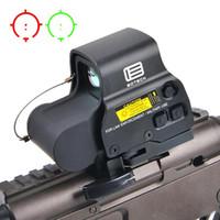 escopo ponto venda por atacado-NOVO 558 Holographic verde Red Dot Sight tático Rifle Scope Óptica Visão Mira Reflex Com Mounts 20 milímetros Âmbito