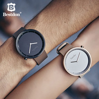 Wholesale couple watches korea for sale - Group buy Bestdon Literary art watch Japanese quartz movement men women Simple casual Couple Watches student Leather wristband Korea style