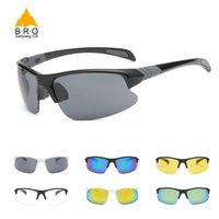 Wholesale bicycle sports sun glasses for sale - Group buy HD Sun Glasses for Driving UV400 Men Glasses Women Cycling Eyewear Sport Anti Explosion MTB Bicycle Bike Glass Gafas
