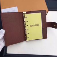 cahier à carreaux achat en gros de-Cahier de notes de réunion en bloc-notes multifonctions en cuir avec feuilles mobiles