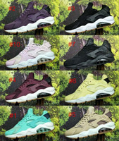 Wholesale branded mesh shoes resale online - New Color Huarache Custom Running Shoes For Men navy blue tan Air Huaraches Sneakers Designer Huraches Brand Hurache Trainers