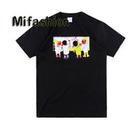 ingrosso magliette di olio-2019 Fashion Summer Box di alta qualità logo T-shirt bambini Pittura a olio Graffiti Skateboard T-shirt uomo firmata T-shirt casual da donna di lusso