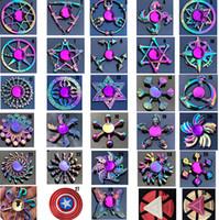 çocuklar için gökkuşağı oyuncakları toptan satış-Gökkuşağı Metal fidget spinner yıldız çiçek kafatası ejderha kanat Otizm DEHB Çocuklar yetişkinler için El Spinner antistres Oyuncak EDC Fidget Oyuncak