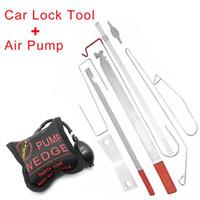 Wholesale car door lock opening kits resale online - 9Pcs Set Universal Car Lock Out Emergency Tool Kit Unlock Door Open Tool Special Car Repair Tools Auto Door Maintenance Tools