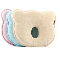 подушки с плоской головкой оптовых-Пена с эффектом памяти Детские подушки Подушка для новорожденных, чтобы предотвратить плоскую головку Мягкая эластичность Спальные постельные принадлежности Медведь Подушка Подарок для младенца