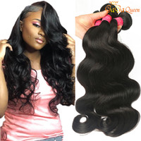 Wholesale wet wavy human hair extensions for sale - Group buy A Brazilian Body Wave Hair Bundles Unprocessed Brazilian Virgin Human Hair Extensions Wet and Wavy Brazilian Hair