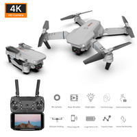 Wholesale remote control aerial for sale - Group buy 2020 New Folding Drone Air k P P HD Dual Camera Wide angle Camera Head Four Axis Aircraft Remote Lyded Aircraft