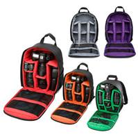 водонепроницаемая сумка для фото оптовых-Многофункциональная камера Рюкзак Видео Цифровой DSLR сумка Водонепроницаемая сумка для фотоаппарата для наружного использования для DSLR