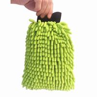 ingrosso guanti di polvere-All'ingrosso Doppio guanto in microfibra per guaina in microfibra ad alta densità 28x20cm Dusting Glove per autolavaggio, cucina, pulizia del bagno