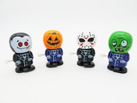 Wholesale winding toys for sale - Group buy Wind up Toy Halloween Walking Ghost Doll Cartoon Bobbing Head ABS Doll Model Decorated Children s toys L173