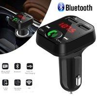 bluetooth auto lcd al por mayor-Coche inalámbrico Bluetooth Transmisor FM Reproductor de MP3 LCD Cargador USB 2.1A Accesorios para autos Manos libres MOQ: 1pcs
