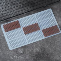 Honeycomb Shape Silicone Mold Cake Decorating Tools Chocolate Transfer Sheet Mould Baking Stencil