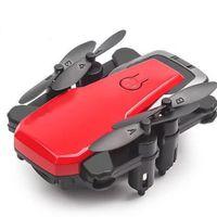 helikopter hava drone toptan satış-Selfie Hava Fotoğrafçılığı Mini Helikopter WIFI Katlanabilir Bir Anahtar Dönüş Drone HD Kamera Başsız Modu Uzun Pil Uzaktan Kumanda