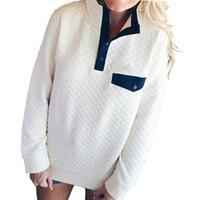 knopf unten hoodie frauen großhandel-2019 Herbst Frauen Kleidung Sweatshirts Langarm Hoodies Winter Femme Umlegekragen Lässige Taste Tops Sweatshirt Plus Größe