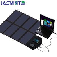 carregador solar usb para tablet venda por atacado-Sunpower 40 w carregador de painel solar carregador de bateria portátil 5 v usb 12 v 18 v de carregamento para telefones celulares tablet laptop