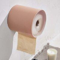 dispensadores de papel higiénico al por mayor-Aseo pared Montada del rollo de papel titular de la Ronda de la caja del tejido de la servilleta de la cubierta Dispensador de toallas de contenedores a prueba de agua para el baño Oficina de coches