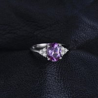 Wholesale sapphire engagement rings for sale - Group buy JewelryPa ct Created Alexandrite Sapphire Ring Sterling Silver Rings for Women Engagement Ring Silver Gemstones Jewelry