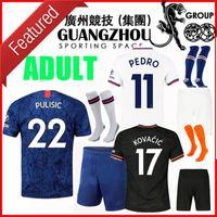 kit montage großhandel-19 20 Pulišić ADULT FUSSBALL KITS JERSEYS SET MAN KOVACIC 17 Jorginho GIROUD KANTE PEDRO 2019 2020 MOUNT HOME AWAY DRITTE Football-Shirts