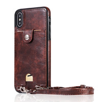 Wholesale free card models for sale - Group buy For Iphone Plus X XS MAX XR Light Luxury Fashion Card Slot Holster Simple Modelling Design Phone Case Cover