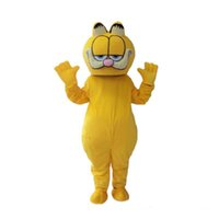 Wholesale theme dress adults for sale - Group buy 2018 hot sale Garfield Mascot Costume Fancy Dress Adult Size Cat Animal Theme Halloween Christmas Birthday Party Costumes