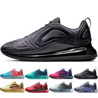 b erkek ayakkabıları toptan satış-2019 Yeni 720 Ayakkabı Tam Minderli Erkek Kadın Neon Üçlü Siyah Karbon Gri Sunset Metalik Gümüş Shoes Koşu Ayakkabıları EUR Boyutu 36-45
