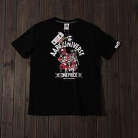 camiseta de impresión de una pieza al por mayor-Diseñador para hombre camisetas verano marea marea cabeza One Piece suelto salvaje impresión de algodón camiseta pareja masculina y femenina estudiantes marea