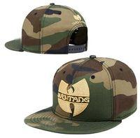 Wholesale baseball hat women resale online - Top Selling Wu Tang Baseball Caps Snapback Flat Brim Hat Street Dance Gift Hip Hop Hats for Men and Women