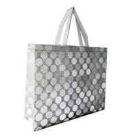 sacos de compras tecidos venda por atacado-Sacos de compra não tecidos do supermercado do brilho com os sacos laminados / protecção ambiental / tamanho grande 48 * 38 * 14 12pcs