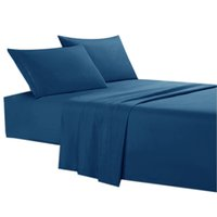 Wholesale royal bedding for sale - Group buy Sheet Set Brushed Microfiber Bedding Anti Wrinkle Fading Antifouling Hypoallergenic Pieces King Royal Blue